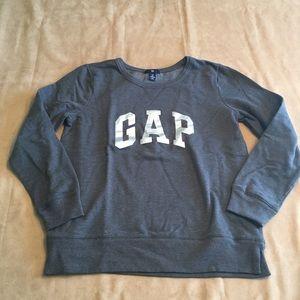 """Gap sweatshirt. Blue w silver """"GAP"""" New w/out tags"""